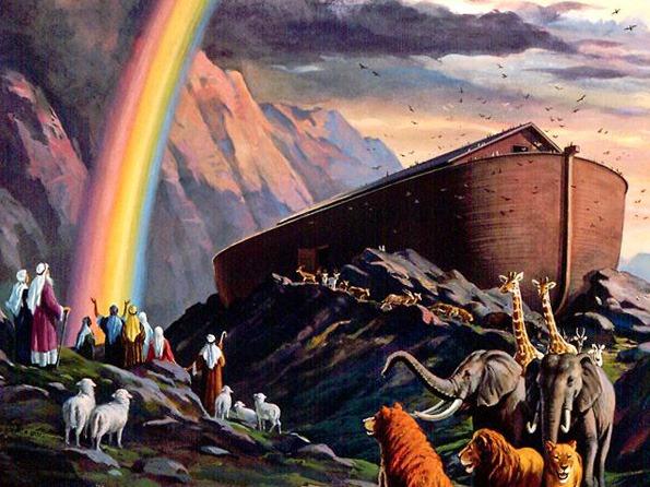 La promesa de Dios a Noé, se sello con un Arco de colores