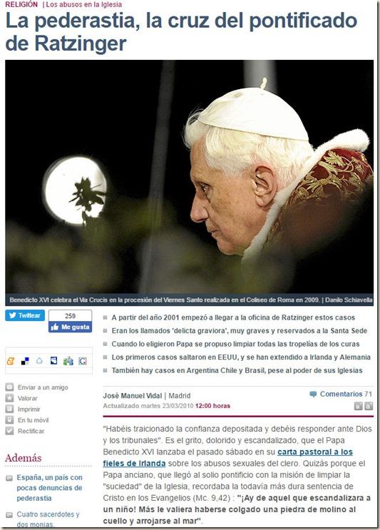 Ratzinger - El Mundo,