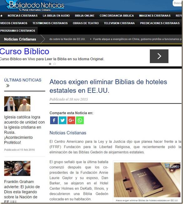 noticia cristiana retirada biblia