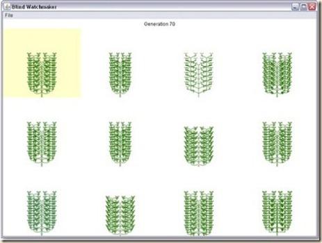 Programa Weasel de biomorfos