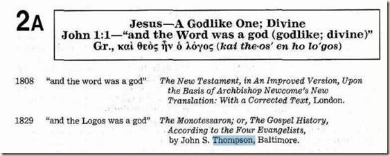 Thompson en la KIT de 1985